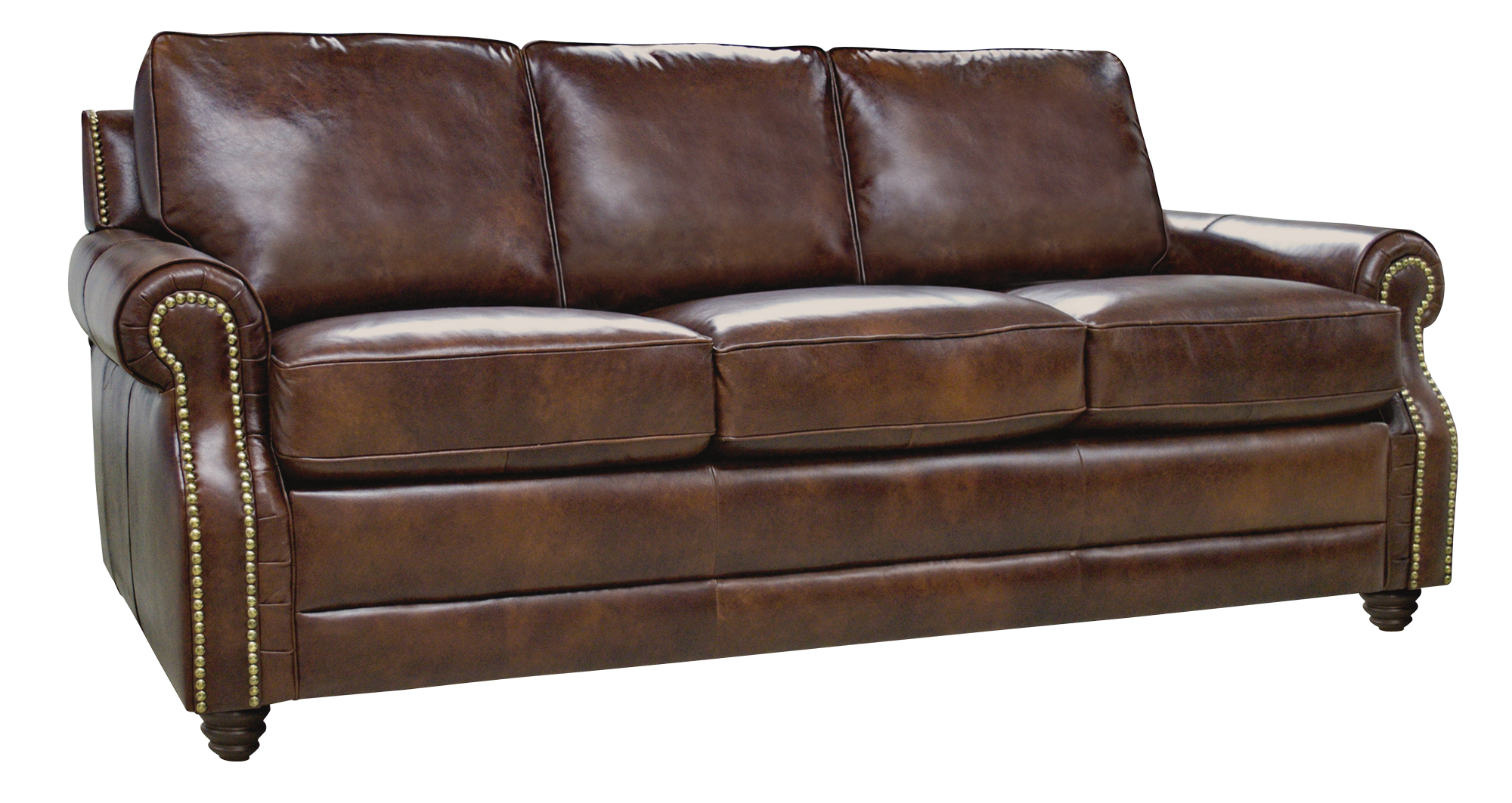 New Luke Leather Dark Caramel Brown Italian Leather Levi Sofa Chair 3500 Ebay