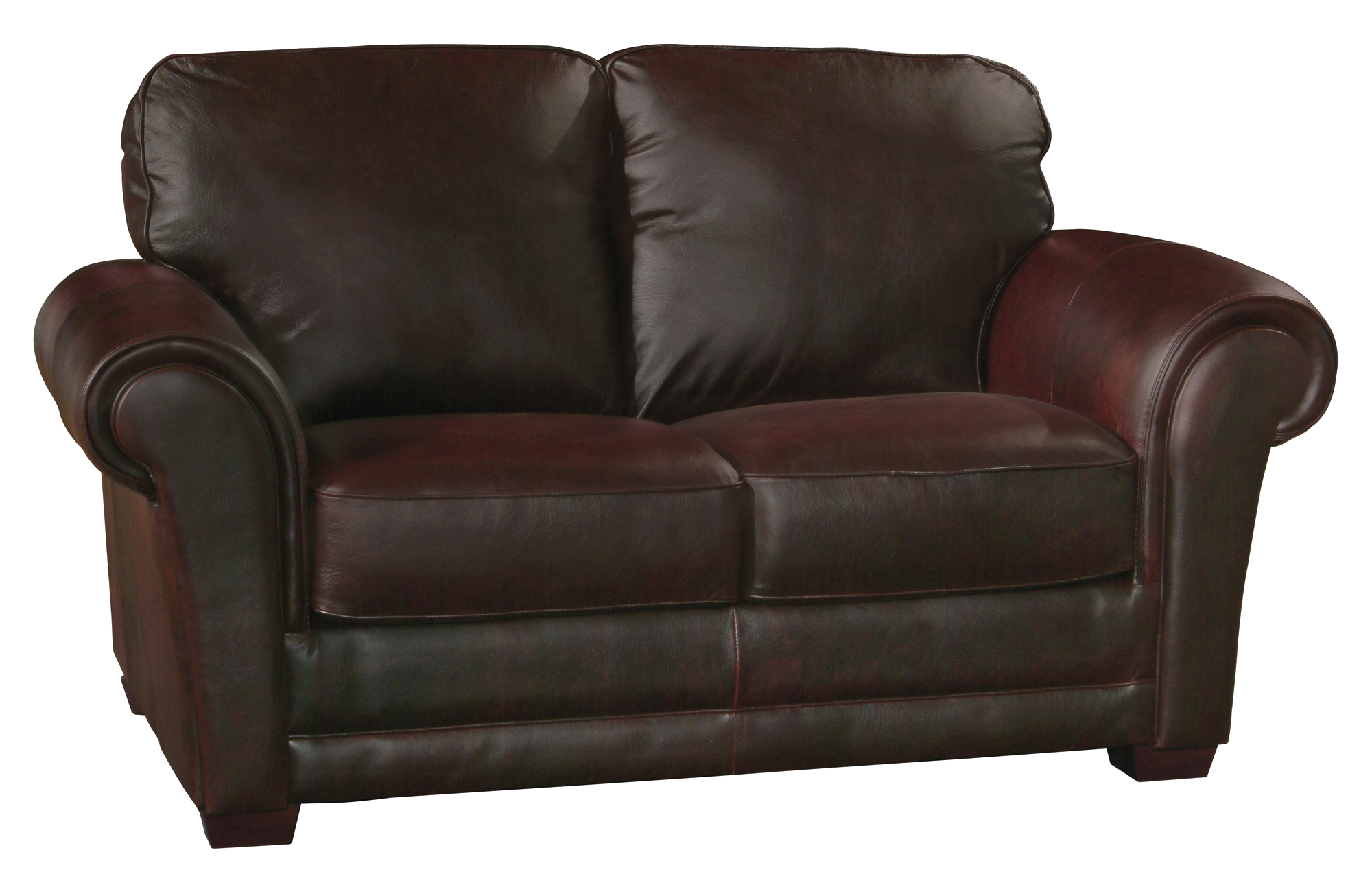 New Luke Leather Mark Italian Leather Distressed Chocolate Brown Sofa Only Ebay